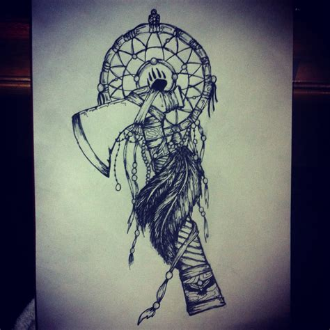 tomahawk dreamcatcher tattoo design tattoo pinterest