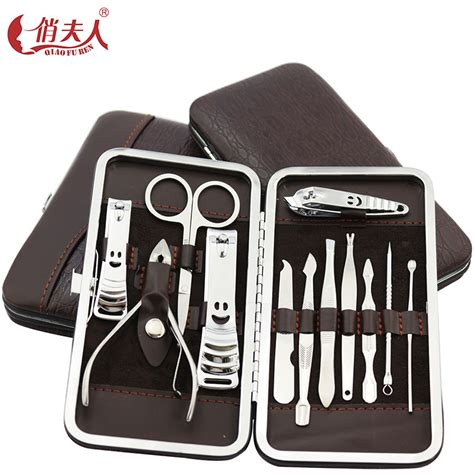 Manicure Set 12 Tools 12 in one nail clipper set nails manicure tools pedicure knife scissors nail care nipper cutter