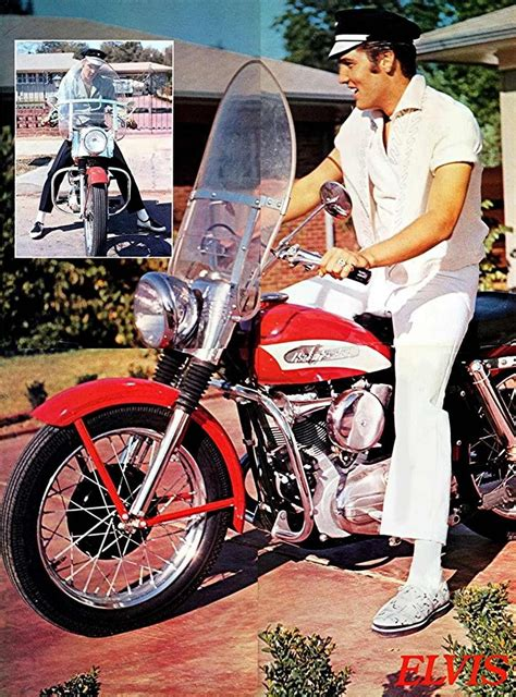 Want To Buy Elvis Motorcycle by Elvis On His 1956 Harley Davidson Kh Outside His