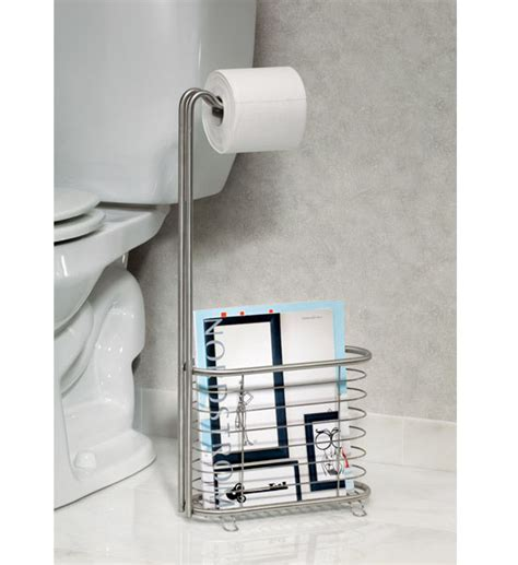 Modern Bathroom Magazine Rack The Forma Stainless Steel Magazine Rack And Tissue Stand