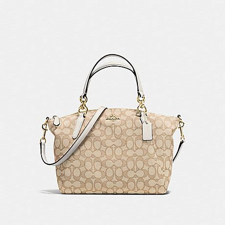 Coach Kelsey Small Signature Khaki small kelsey satchel in outline signature f58283