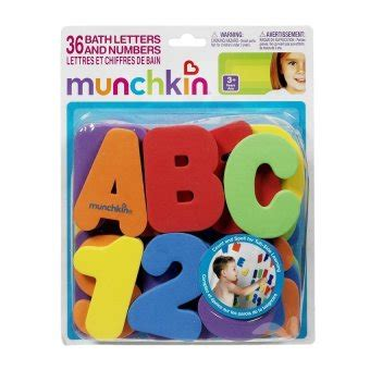 Munchkin Huruf Dan Angka munchkin permainan bayi mandi mainan edukasi anak saat