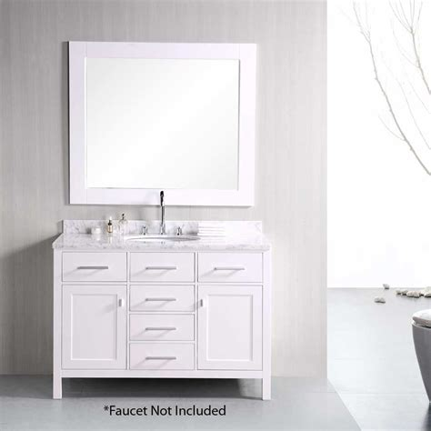 design element bathroom vanities design element 48 quot single sink bathroom vanity