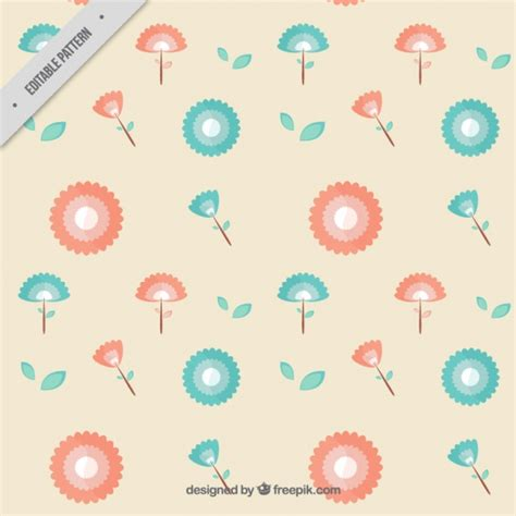 pattern warm color pattern made with warm color flowers vector free download