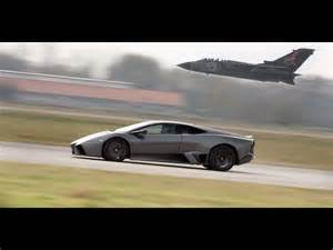 Lamborghini Speeding 2008 Lamborghini Reventon Vs Tornado Jet Fighter Side