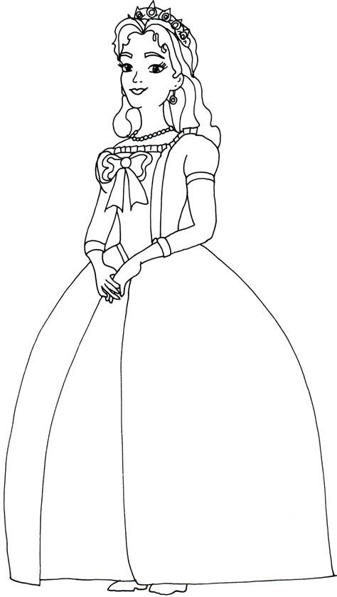 Queen Miranda Coloring Page | sofia the first coloring pages queen miranda sofia the