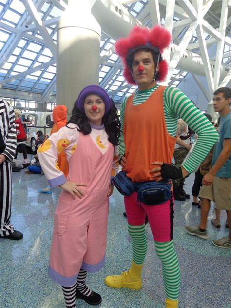 the cast of the big comfy couch loonette and major bedhead halloween costumes