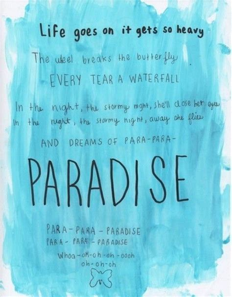coldplay songs coldplay lyrics paradise www imgkid com the image kid