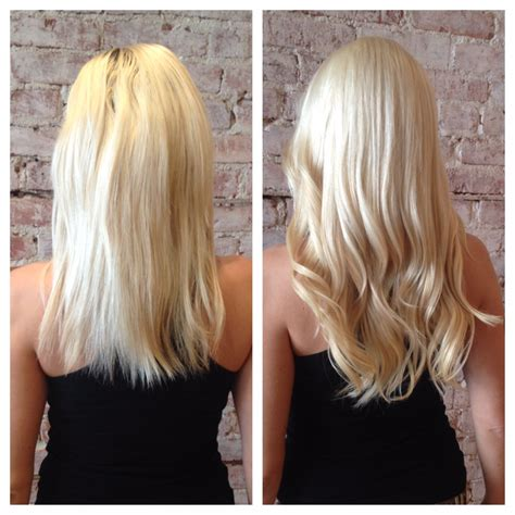 in hair extensions before and after before and after client photos