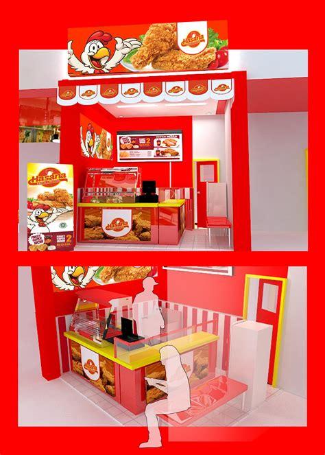 desain gerobak fried chicken galeri desain outlet untuk counter hasana fried chicken