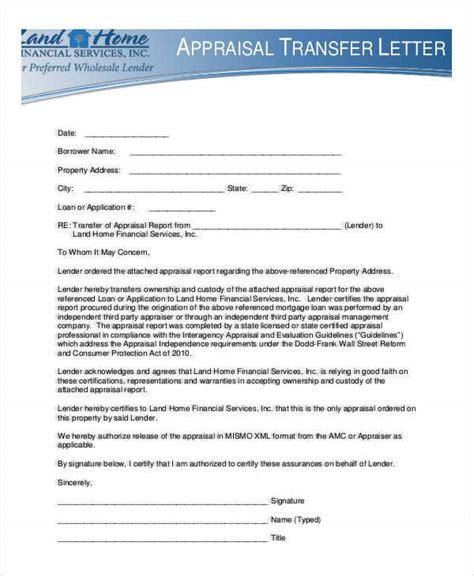appraisal transfer letter template word