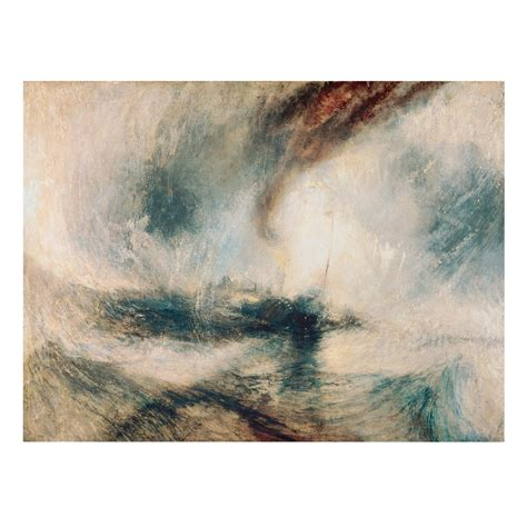 snow storm steam boat off a harbour s mouth canvas art william turner snow storm steam boat off