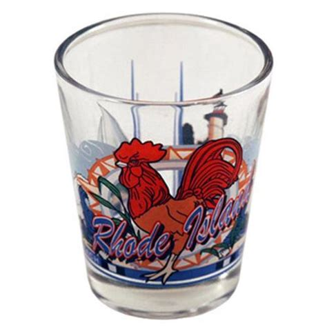 bulk buys rhode island shot glass 2 25h x 2 inch w 3 view