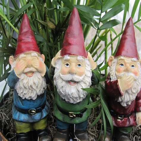 garden gnomes garden gnomes set of three