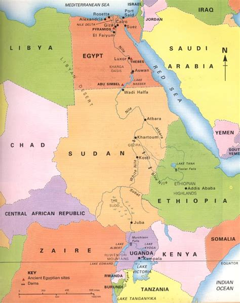 nile river on a map maps of the nile