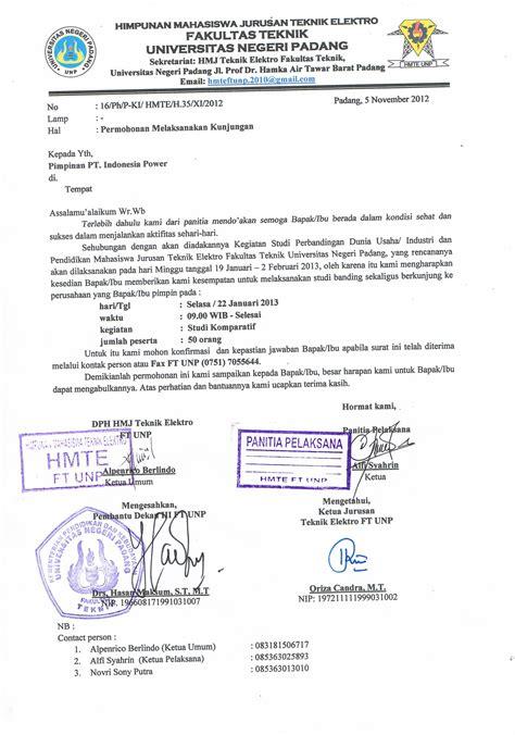surat kunjungan kunjungan industri studi banding hmte ft unp 2010