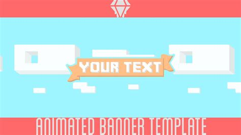 free animated banner template liquiddiamondd youtube