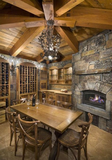 wine cellar and tasting room rustic house on log homes cabin and log cabins