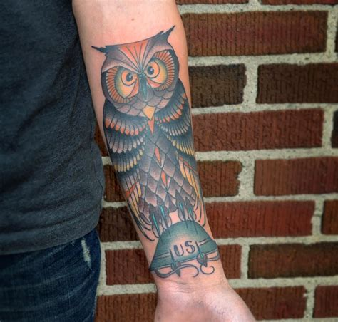vintage owl tattoo designs