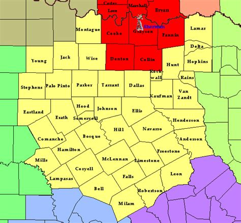 where is sherman texas on the map information for the sherman tx weather radio transmitter