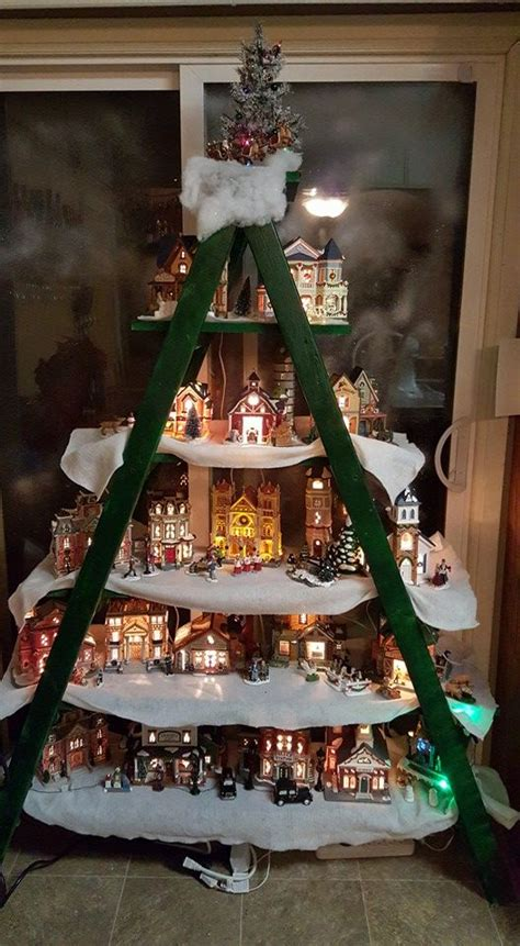 measurements christmas tree village display 707 best villages images on villages decor and