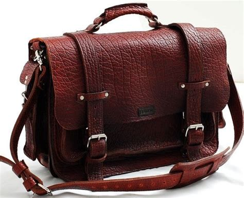 Handmade Leather Briefcase Usa - custom leather bag unisex american buffalo leather bag