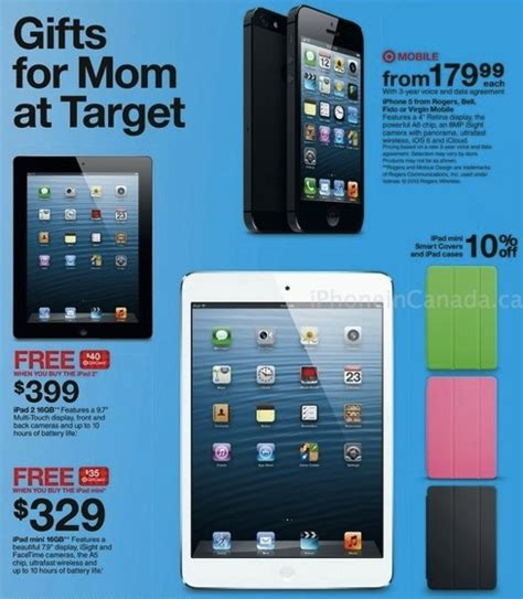 Target Ipad Mini Gift Card Deal - target canada buy an ipad mini get a 35 gift card iphone in canada blog canada