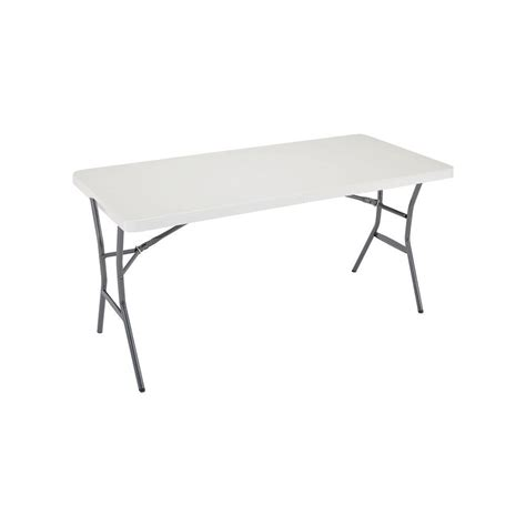 Lifetime Folding Table by Lifetime Pearl Light Folding Table 80335 The Home Depot