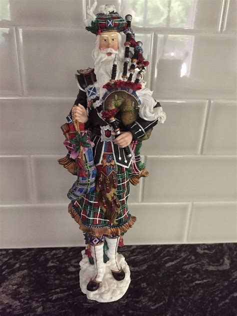 scottish piper christmas decoration scottish piper pencil santa collection by lenox 2003 figurine beautiful things