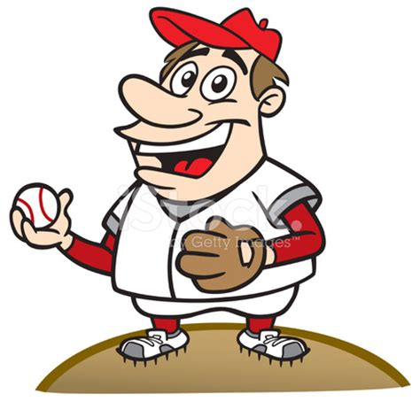 cartoon guy as baseball pitcher stock vector freeimages.com
