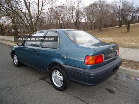 auto air conditioning repair 1994 toyota tercel head up display 1994 toyota tercel std sedan 2 door 1 5l 82 hp 1 5 liter i 4 gas saver l k