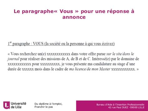 Presentation Lettre De Motivation Module Lettre De Motivation