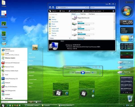 desktop themes vista 41 windows vista custom desktop theme packs windows