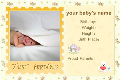baby announcement templates free baby birth announcement templates baby shower ideas