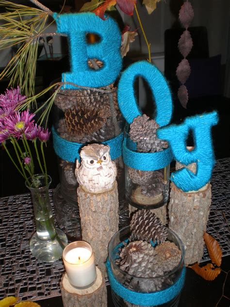 baby boy centerpieces ideas handmade holidays with yarn and coffee filters the