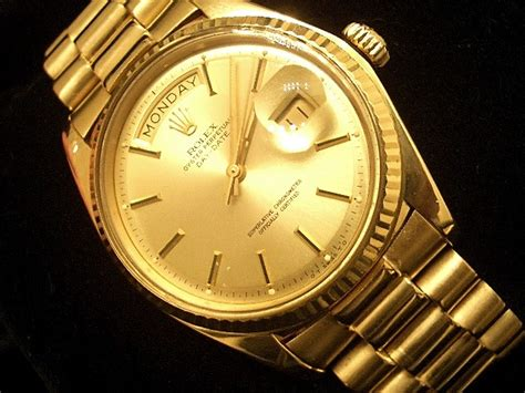 mens 18k gold rolex day date president chagne ebay