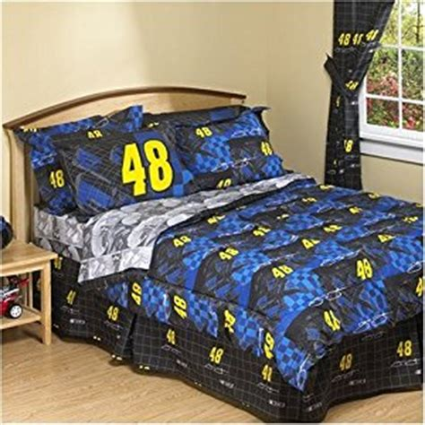 nascar bedding amazon com bed skirt queen nascar jimmie johnson home