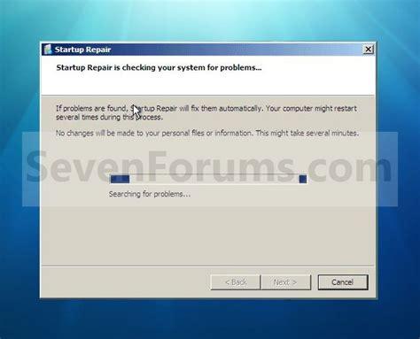 startup repair windows 7 help forums