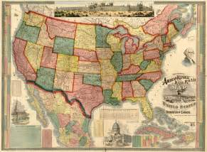 united states 1875 wall map mural
