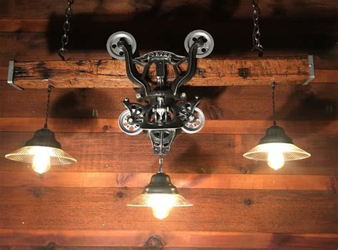 pin  diane shores  hay trolley lights chanelier