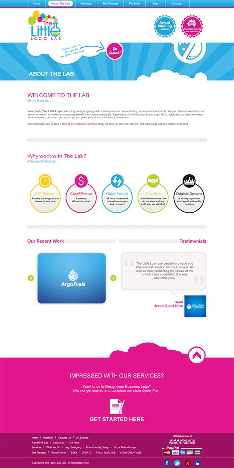 design lab website the little logo lab website designing development