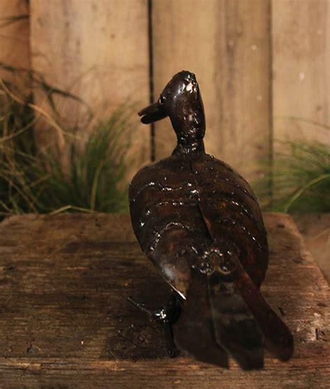 duck handmade recycled metal garden sculpture  chi