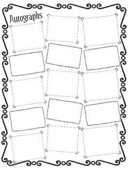 End Of The Year Autograph Page By Made To Inspire Tpt Autograph Card Template