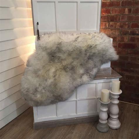 luxury sheepskin rug luxury grey tip sheepskin rugs by cowshed interiors notonthehighstreet