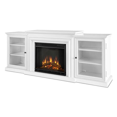 Electric Fireplace White Real 7740e W Frederick 72 Quot Tv Stand W Ventless Electric Fireplace In White