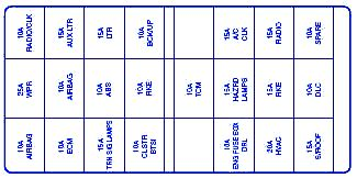suzuki sidekick suv  front fuse boxblock circuit breaker diagram carfusebox