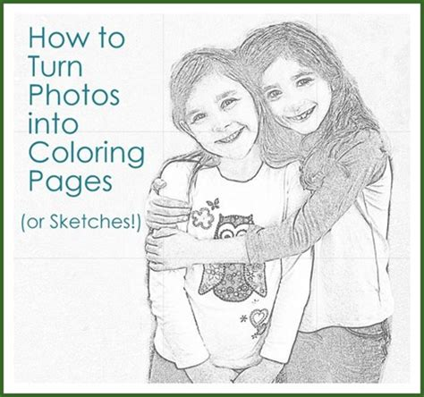 make coloring book pages in photoshop from photos to coloring pages or sketches