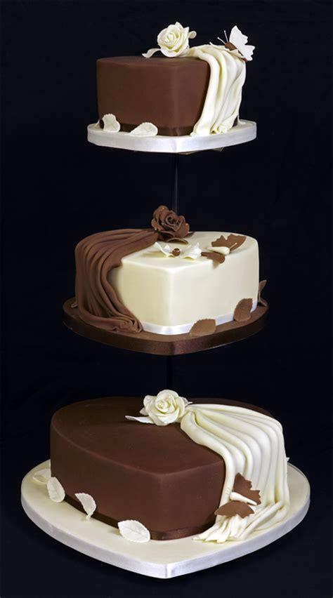 3 tier wedding cake images amazing 3 tier shaped wedding cake design on