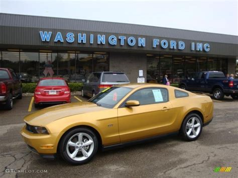 gold glitter car 2010 sunset gold metallic ford mustang gt premium coupe