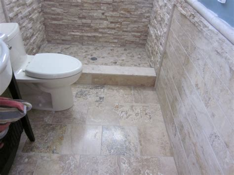 best stone for bathroom floor 20 pictures and ideas of travertine tile designs for bathrooms